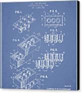 Lego Toy Building Brick Patent - Light Blue Canvas Print