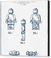 Lego Toy Figure Patent - Blue Ink Canvas Print