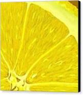 Lemon Canvas Print by Anastasiya Malakhova