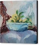Lemon And Lace Canvas Print