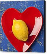 Lemon Heart Canvas Print by Garry Gay