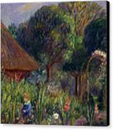 Lenna By A Summer House Canvas Print by William James Glackens