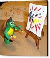Leonardo The Mutant Painting Turtle Canvas Print by Scott Faucett