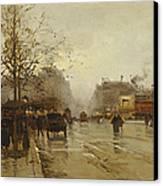 Les Boulevards Paris Canvas Print by Eugene Galien-Laloue