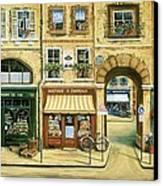 Les Rues De Paris Canvas Print by Marilyn Dunlap
