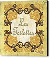 Les Toilettes Canvas Print by Debbie DeWitt