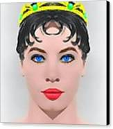 Leslie Caron Alias In The Glass Slipper Canvas Print by Art Cinema Gallery