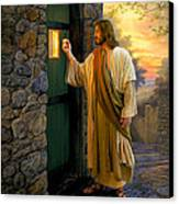 Let Him In Canvas Print by Greg Olsen