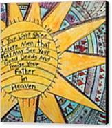 Let Your Light Shine Canvas Print by Lauretta Curtis