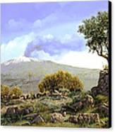 l'Etna  Canvas Print