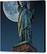 Liberty Moon Canvas Print by Steve Purnell