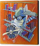 Librarian Pilot Canvas Print by Marina Gnetetsky