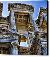 Library Of Celsus Canvas Print by David Smith