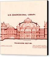 Library Of Congress Design 1877 Canvas Print by Mountain Dreams