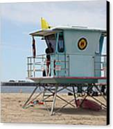 Lifeguard Shack At The Santa Cruz Beach Boardwalk California 5d23710 Canvas Print by Wingsdomain Art and Photography