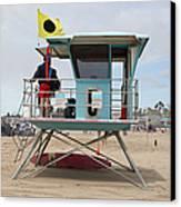 Lifeguard Shack At The Santa Cruz Beach Boardwalk California 5d23711 Canvas Print by Wingsdomain Art and Photography