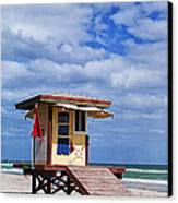 Lifeguard Station In Hollywood Florida Canvas Print by Terry Rowe