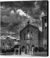 Light Above The Church Canvas Print