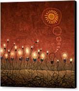 Light Bulb God Canvas Print by Gianfranco Weiss