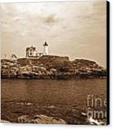 Light On The Nubble Canvas Print by Skip Willits