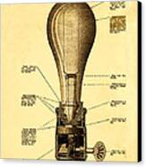 Lightbulb Patent Canvas Print by Digital Reproductions