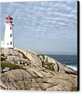 Lighthouse At Peggys Point Nova Scotia Canvas Print