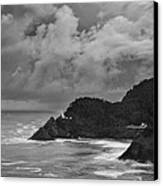 Lighthouse In The Storm Canvas Print by Andrew Soundarajan