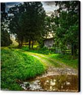 Lighting The Pathway Home Canvas Print by Paul Herrmann