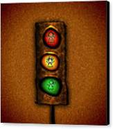 Lights At The Crossing Canvas Print by Gianfranco Weiss