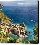 Ligurian Coast View At Vernazza Canvas Print