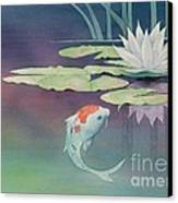 Lily And Koi Canvas Print