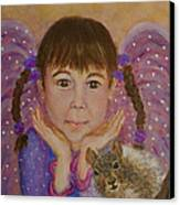 Lily Isabella Little Angel Of The Balance Between Giving And Receiving Canvas Print