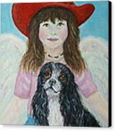 Lily Little Angel Of Self Empowerment Canvas Print by The Art With A Heart By Charlotte Phillips