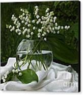 Lily-of-the-valley Bouquet Canvas Print by Luv Photography