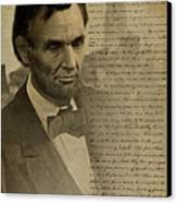 Lincoln At Gettysburg Canvas Print