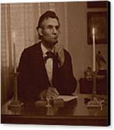 Lincoln At His Desk Canvas Print