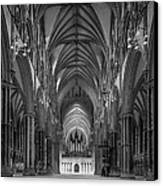 Lincoln Cathedral Nave Canvas Print by Ian Barber