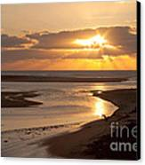 Lincoln City Sunset Canvas Print by John Daly