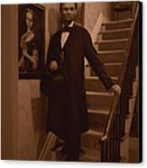 Lincoln Descending Staircase Canvas Print