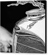 Lincoln Hood Ornament - Grille Emblem -1187bw Canvas Print