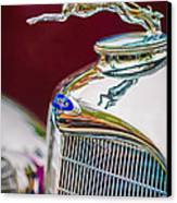 Lincoln Hood Ornament - Grille Emblem -1187c Canvas Print by Jill Reger