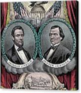 Lincoln Johnson Campaign Poster Canvas Print by Marvin Blaine
