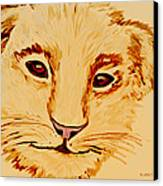 Lion Cub Canvas Print by Elizabeth S Zulauf