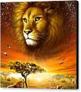 Lion Dawn Canvas Print by Adrian Chesterman