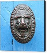 Lion Face Door Knob Canvas Print by Lainie Wrightson