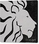 Lion Graphic King Of Beasts Canvas Print by M C Sturman