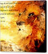 Lion Of Judah Courage  Canvas Print
