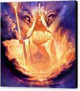 Lion Of Judah Canvas Print by Jeff Haynie