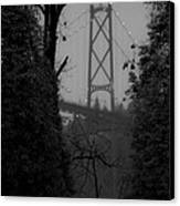 Lions Gate Bridge Canvas Print by Nancy Harrison
