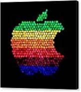 Lite Brite Macintosh Canvas Print